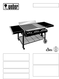 weber gas grill ft 600 user guide manualsonline com