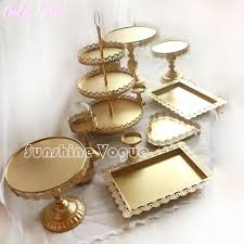 gold cake stands online shop set of 12 pieces gold cake stand wedding cupcake stand