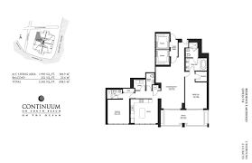 Brickell On The River Floor Plans Continuum Ii North Lux Life Miami Blog