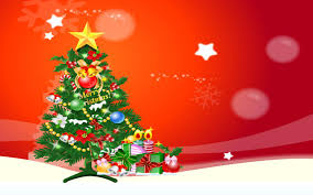 free tree christmas gifts red bg backgrounds for powerpoint