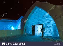 Hotel De Glace Outside At Night Hotel De Glace Ice Hotel Quebec City Quebec