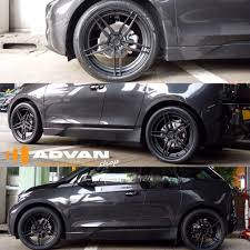 custom black bmw i3 in stealth mode adv05 mv2 cs20x5 5 all around full matte black