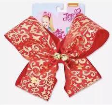 christmas hair bows jojo siwa justice exclusive large gold christmas