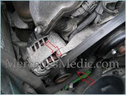 how to replace alternator on a mercedes benz e c clk slk s class