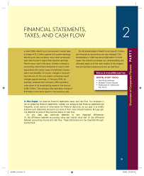 financial statements taxes and cash flow e book