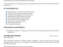 Childcare Worker Resume 100 Child Care Resume Resume Cv Cover Letter Child Care
