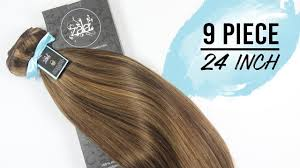Sunkissed Brown Hair Extensions by Zala Snickers 4 12 24 Inch 9 Piece Youtube