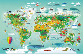 Earth World Map by Usborne Map Maze Book Gareth Lucas World Map Maze Puzzle