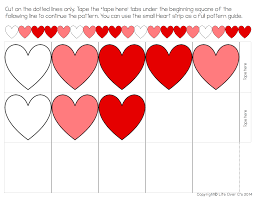 heart pattern free printable for valentine u0027s day