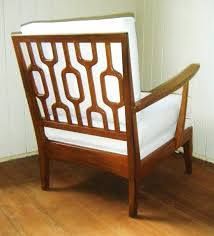 Modern Swedish Furniture by Mcm Danish Chair With Googie Carved Wood Back Mid Century