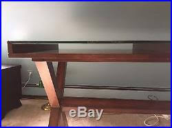 ava glass display wood desk barn ava glass display wood desk espresso