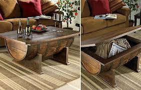 handmade coffee table handmade vintage whiskey barrel coffee table hiconsumption