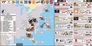 Virginia Tech Interactive Map by Ncaa Division I A Football Bowl Subdivision The Acc Team