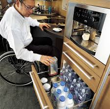 ergonomic italian kitchen design suitable for wheelchair users smart kitchen designed for the disabled