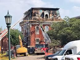 Uvm Campus Map Updated Firefighters Battle Blaze At Historic Uvm Building Vtdigger