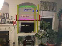 mounting larger hdtv over small tv niche anandtech forums