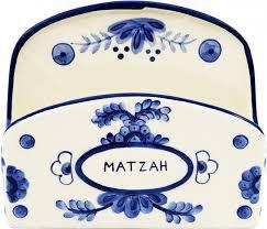 matzah holder shop blue ceramic matzah holder delft look los angeles judaica
