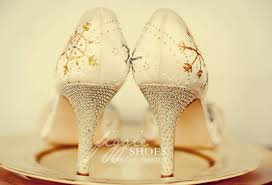 wedding shoes chagne painted wedding shoes a truly unique idea that tells your story