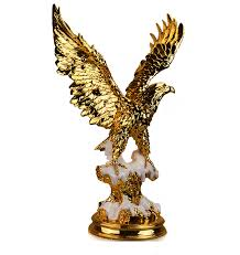 the large resin electroplating eagle ornaments snow eagle