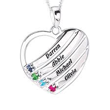 personalized family necklace personalized mothers necklace mothers necklace with birthstones
