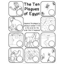 the ten plagues of egypt worksheet pack educents