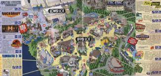 Star Maps Los Angeles by Theme Park Brochures Universal Studios Hollywood Theme Park