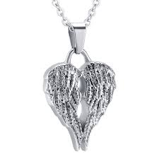 necklace to hold ashes retro angel wing ash keepsake urn pendant necklace hold ashes