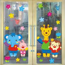 stickers for glass doors removable glass door stickers cartoon wall stickers kindergarten