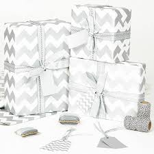 silver christmas wrapping paper silver chevron white wrapping paper by