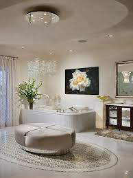 25 sparkling ways of adding a chandelier to your dream bathroom view in gallery beautiful cascading chandelier enlivens the contemporary bathroom design w a bentz construction