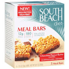 south beach diet chocolate peanut butter meal bars 5ct walmart com