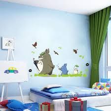 deco chambre japonais sticker décoration murale salon chambre enfants tonari no totoro