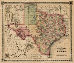 Usps First Class Shipping Time Map 1866 Schönberg U0026 039 S Map Of Texas Historic Map 24x28