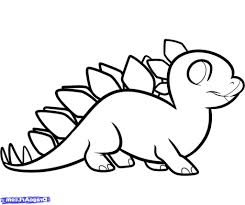 simple dinosaur drawing how to draw a stegosaurus for kids step