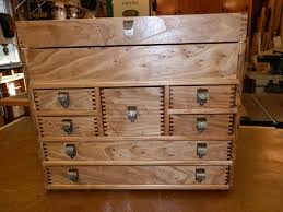 Tool Cabinet Wood Tool Chest From Elm And Cherry By Gittyup Lumberjocks Com