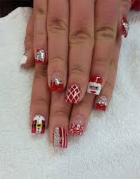 25 best red green gold christmas nail art designs images on