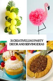 luau table centerpieces 31 colorful luau party decor and serving ideas shelterness