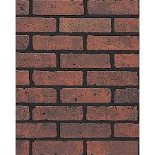 shop dpi 47 75 in x 7 98 ft embossed red brick with black grout