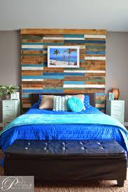 colorful and rustic plank headboard wall remodelaholic bloglovin u0027