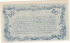 chambre de commerce chateauroux 50 centimes 6 janv 1916 chambre de commerce chateauroux neuf gem unc