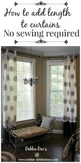Length Curtains Can T Sew No Worries Debbiedoos