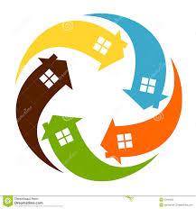 home design logo free home logo stock vector illustration of real home arrow 23604555