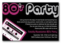 80 u0027s party themed invitations by invitationconsultants com