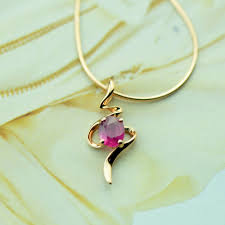 golden girl necklace images 0 4ct ruby 18k gold jewelry gemstone necklace pendant wedding jpg