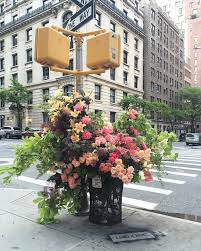 geoffroy mottart guerilla flower installations on the streets of nyc by lewis