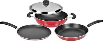 Stainless Steel Kitchen Set by Buy Tosaa Super Deluxe Induction Base Non Stick Kitchen Set With