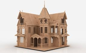 Free Doll House Design Plans by Free Doll House Dxf Pattern 1 Nice Design Plans 3d Dxf Files