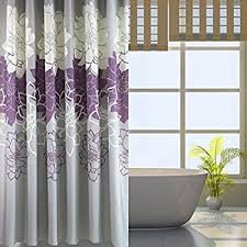 Lush Shower Curtains Lush Decor Covina Shower Curtain Purple Home Kitchen