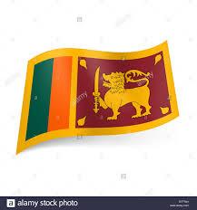 Lion Flag National Flag Of Sri Lanka Golden Lion With Sword On Dark Red