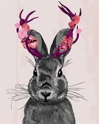 aliexpress com buy hq abstract rabbit home decor no frame animal